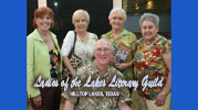Fred Stawitz with Ladies of the Lakes Literary Guild
