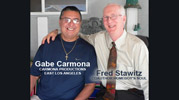 Fred Stawitz with video producer Gabe Carmona